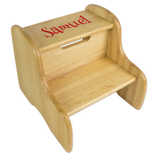 Wood Two Step Stool Name Only