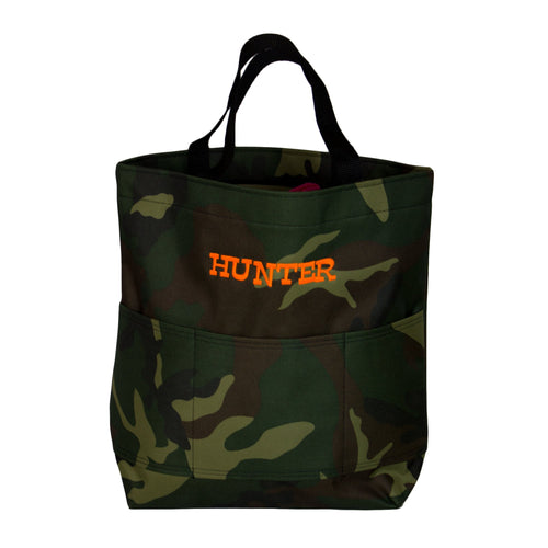 Embroidered Camouflage Tote
