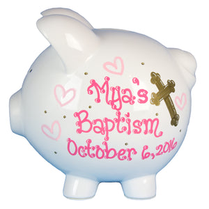 Baptism Piggy Bank-Girl