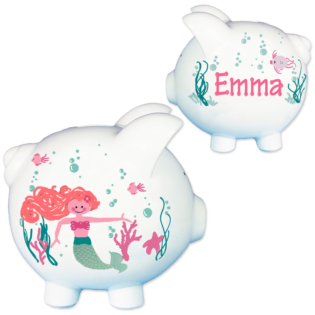 little mermaid girls piggy bank
