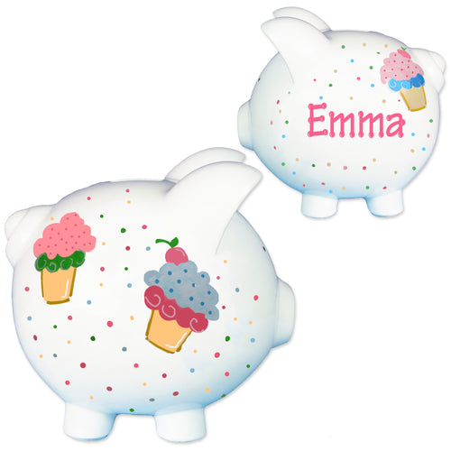 Hand Painted Cupcake piggy bank