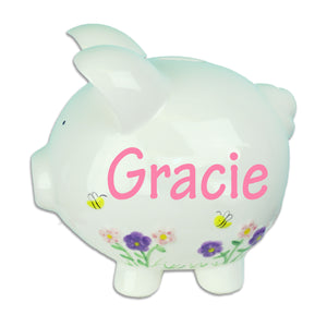 Bees & Blooms Piggy Bank