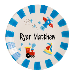 Boy's Ceramic Transportation Plate