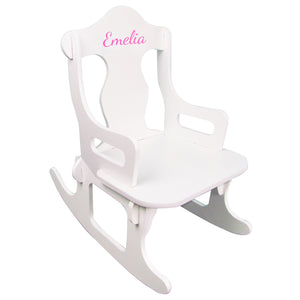 childs puzzle rocking chair with name