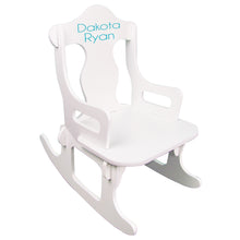 childs puzzle rocker with monogram