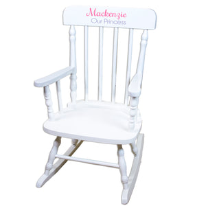 White Personalized Wooden ,rocking chairs -Name Only