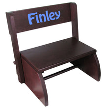 Personalized Name Only Espresso Flip Stool