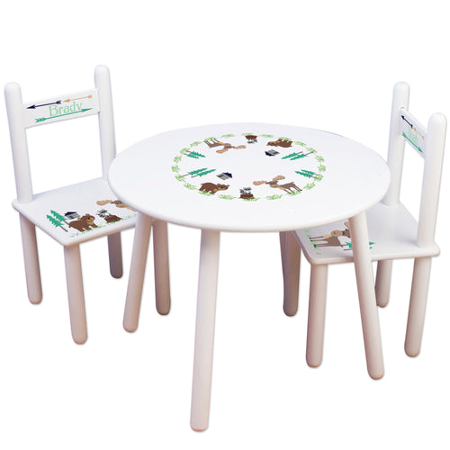 kids north woodland table chair set