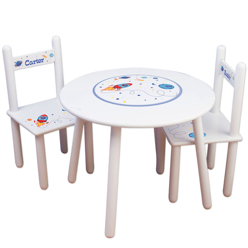 Boys rocket table chair set