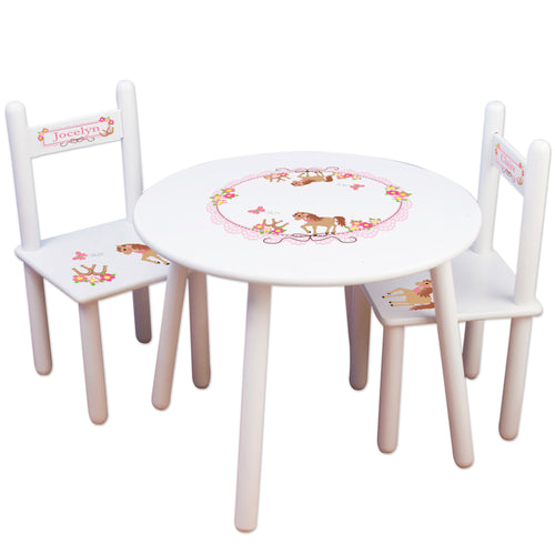 childs little pony table chair set