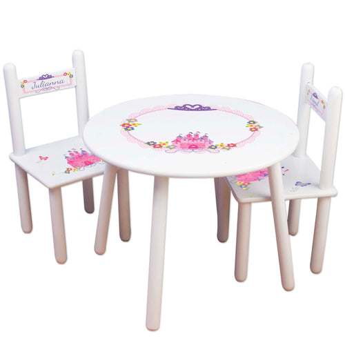 personalized princess table chair set for children