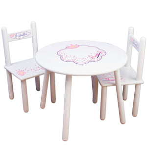 personalized fairy princess table chair set