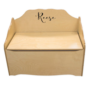 Custom Natural Toy Chest -Just Name