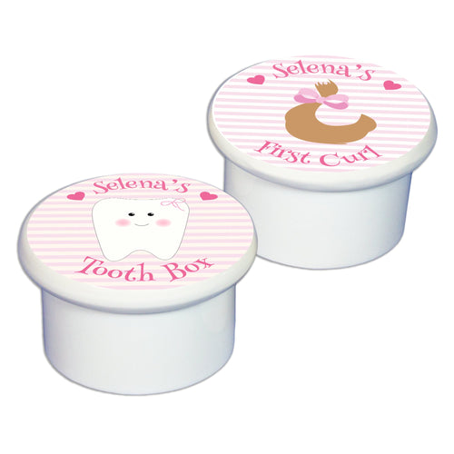 First Tooth & Curl Set Keepsake Boxes