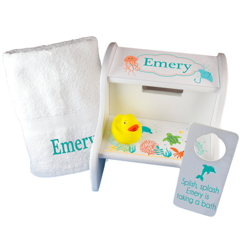 Personalized Tub Time Gift Set