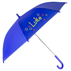 Personalized Childs Blue Umbrella