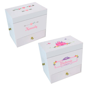 Personalized Deluxe Musical Ballerina Jewelry Box- main