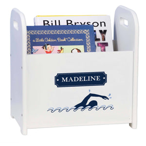 Book Caddy and Rack with Swim design