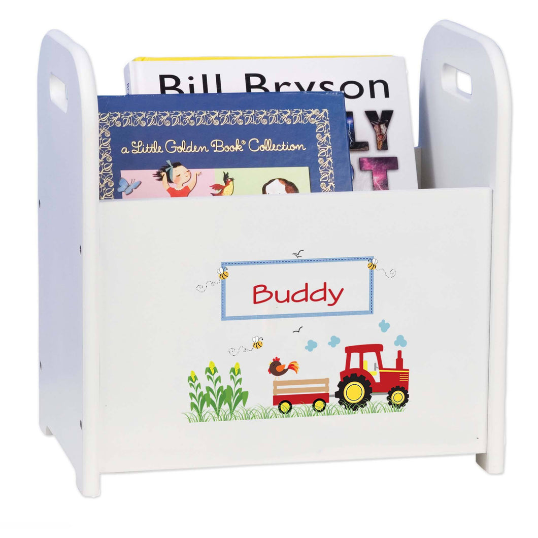 Personalized Red Tractor Book ,storage