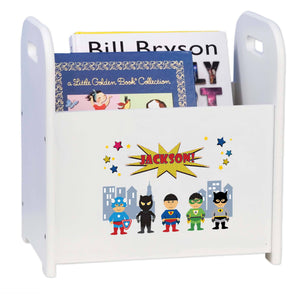 Personalized Superhero Asian Book Caddy And Rack