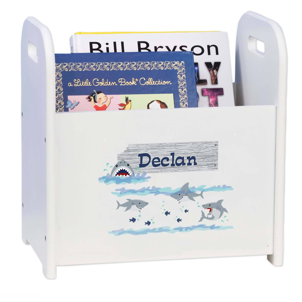 Personalized Shark Tank Book Caddy And Rack
