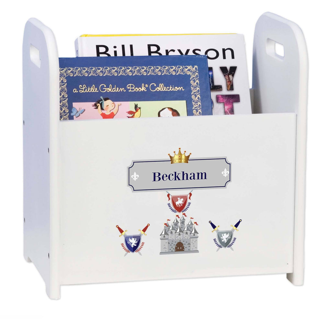 Personalized Medieval Castle Book Caddy And Rack