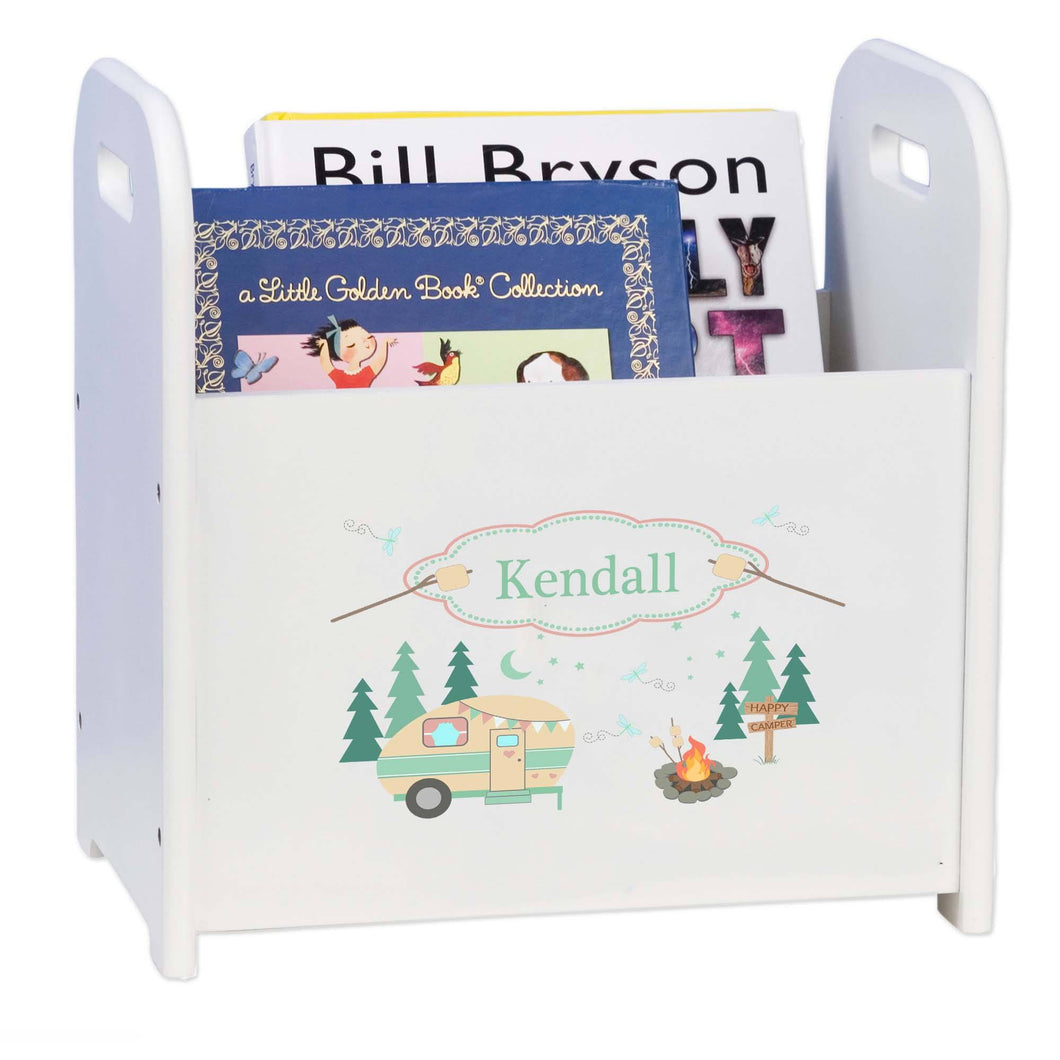Personalized Camp Smores Book Caddy And Rack