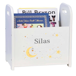 Personalized Celestial Moon Book Caddy