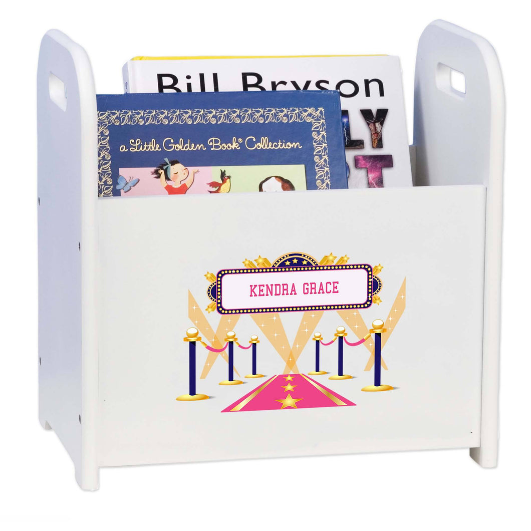 Personalized A Star Is Born Pink Book Caddy And Rack