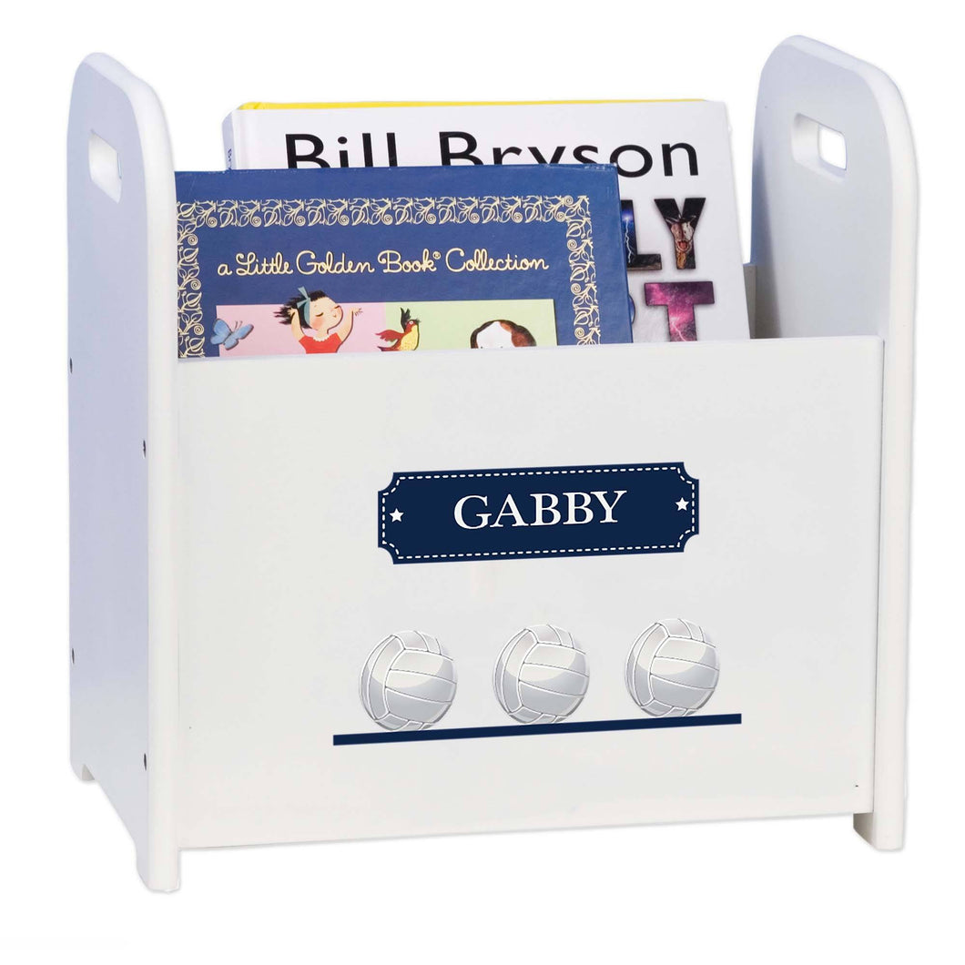 Personalized Volley Balls Book Caddy And Rack