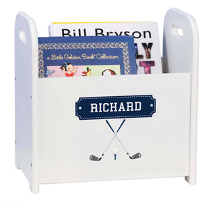 Personalized Golf Book Caddy And Rack