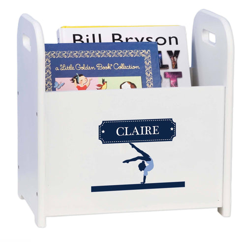 Personalized Gymnastics Book Caddy And Rack