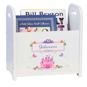 Personalized Child's Book ,storage Magazine Rack Princess Castle