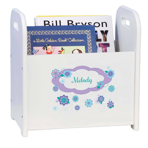 Personalized Florascope White Book Caddy And Rack