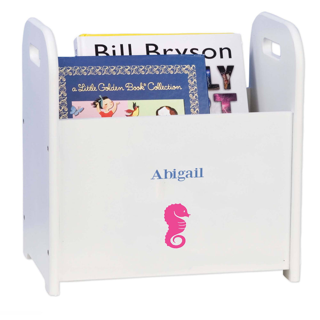 Personalized Seahorse Design Book Caddy And Holder