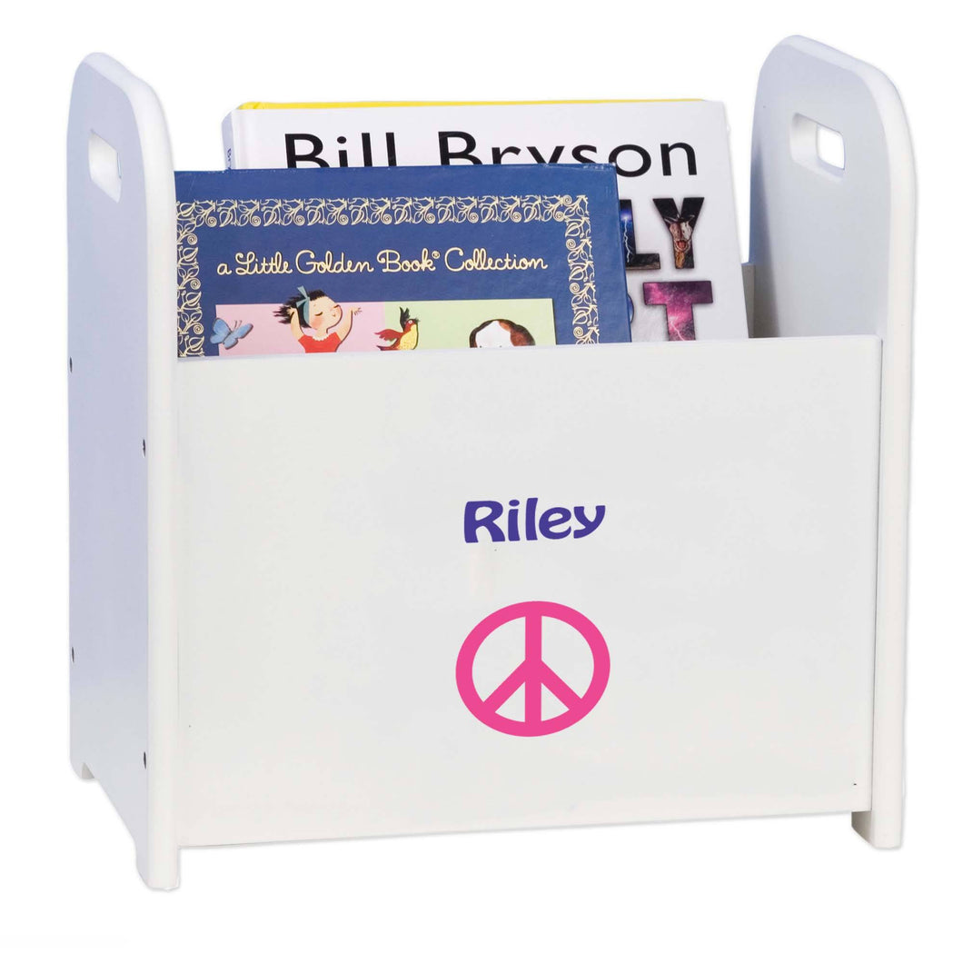 Personalized Single Peace Design Book Caddy And Holder