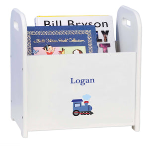 Personalized Single Train Design Book Caddy And Holder