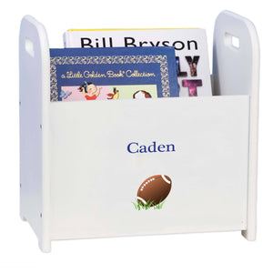 Personalized Single Football Design Book Caddy And Holder