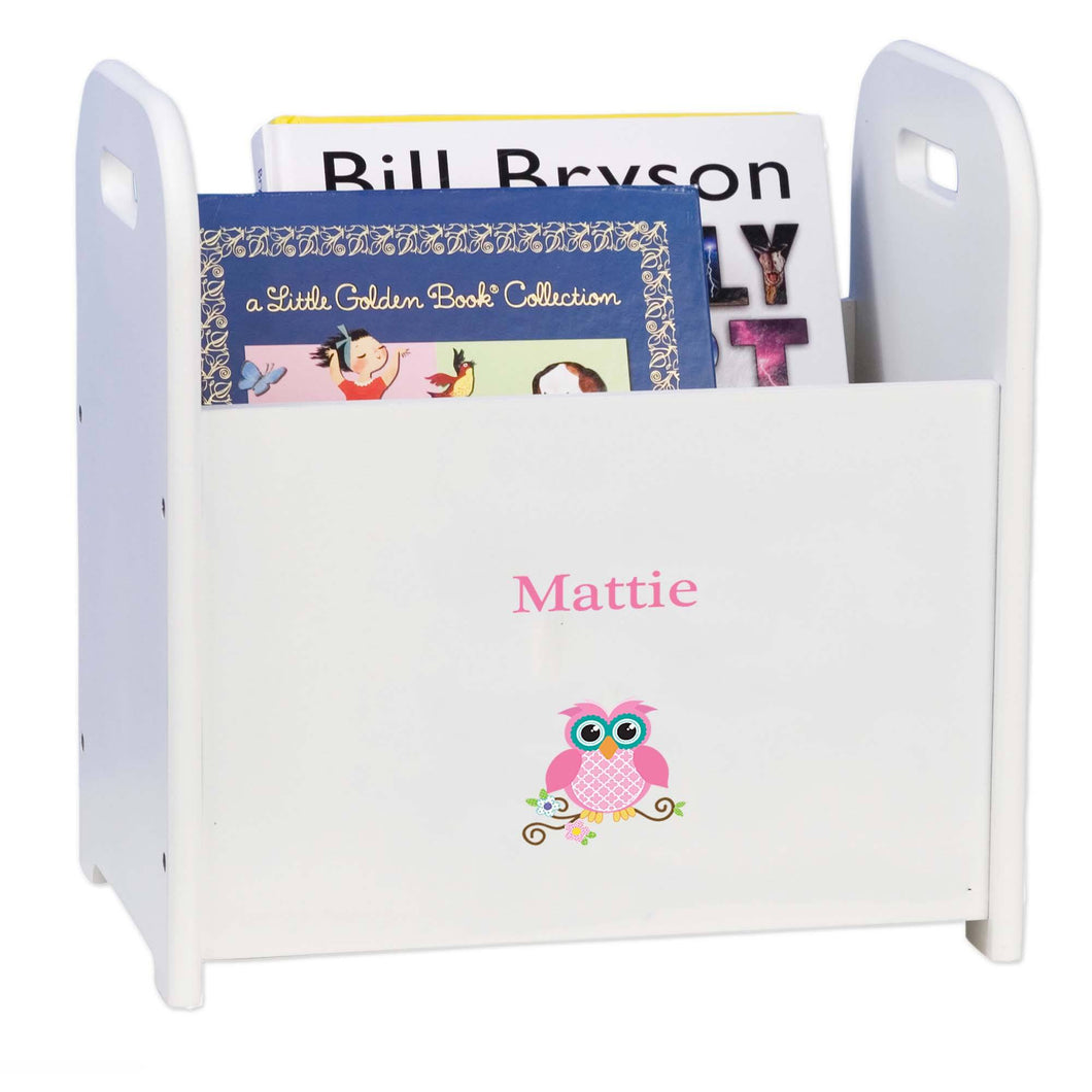 Personalized Single Owl Design Book Caddy And Holder