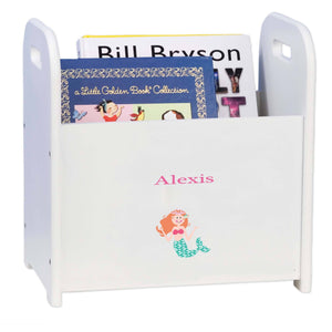 Personalized Single Mermaid Design Book Caddy And Holder