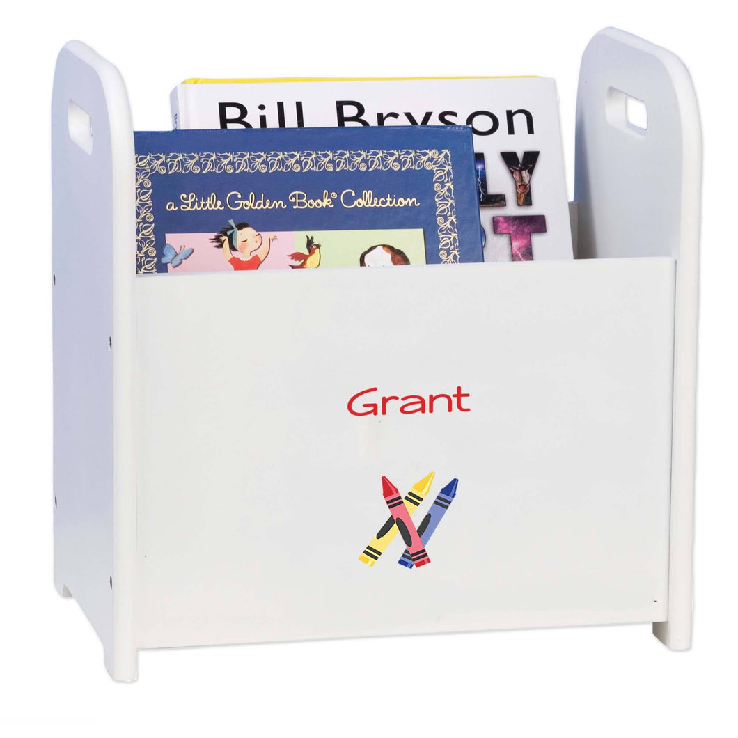 Personalized Single Crayons Design Book Caddy And Holder