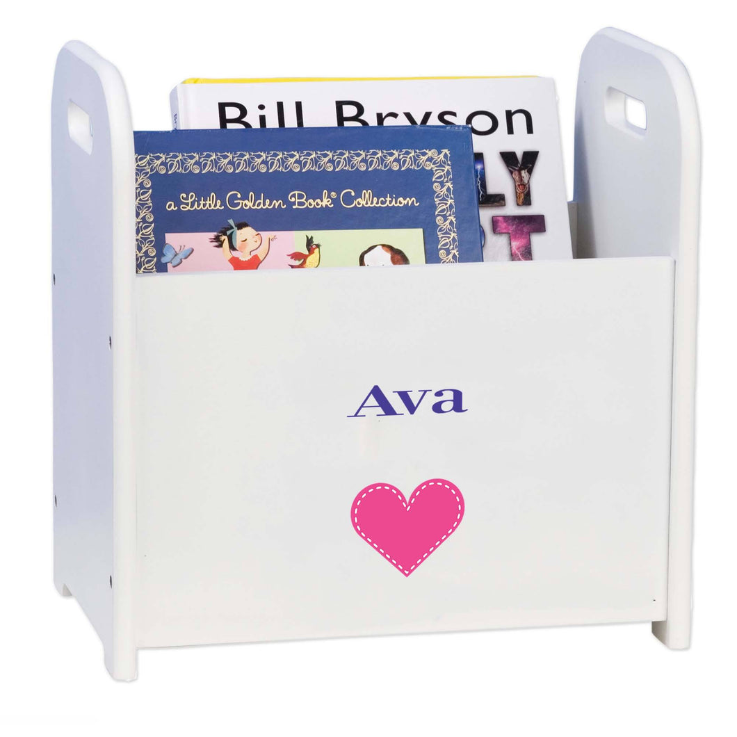 Personalized Single Heart Design Book Caddy And Holder