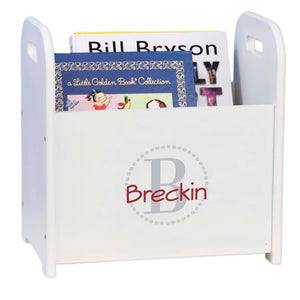 Personalized Light Gray Circle-Ii Design Book Caddy And Holder