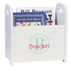 Personalized Mint Circle-Ll Design Book Caddy And Holder