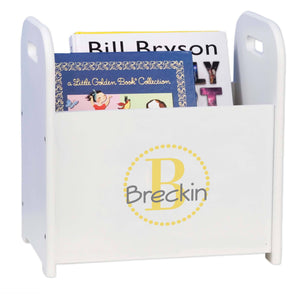Personalized Gold Circle-Ll Design Book Caddy And Holder