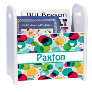 Personalized Venn Diagram White Book Caddy And Rack