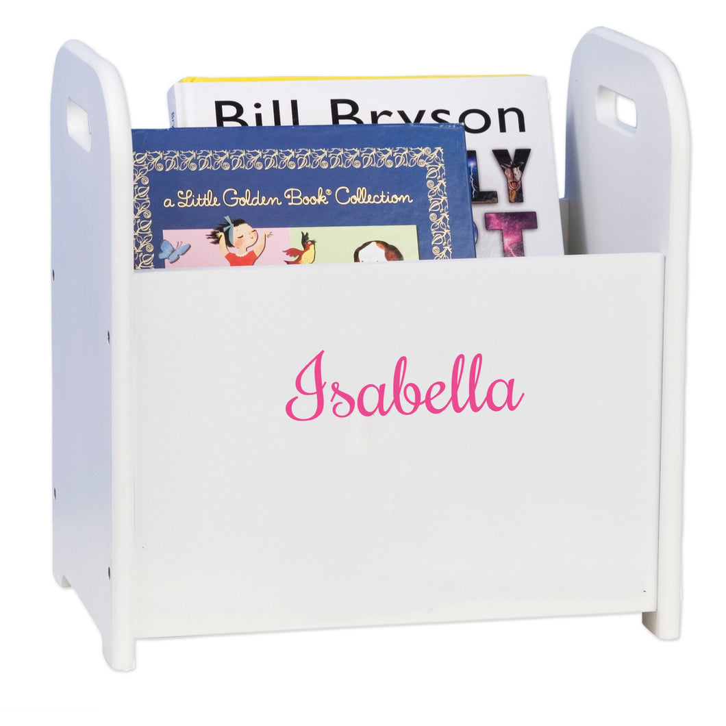 Personalized Girls With Name Only Book Holder And Rack
