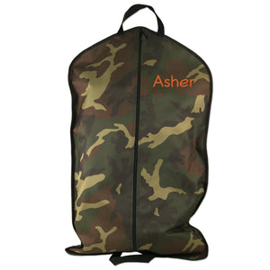 Embroidered Camouflage Garment Bag