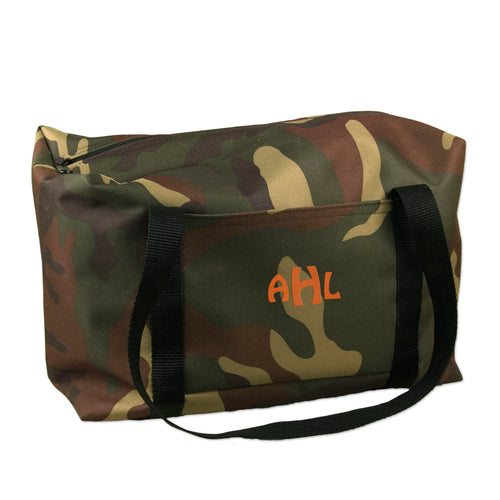Embroidered Camouflage Large Duffle