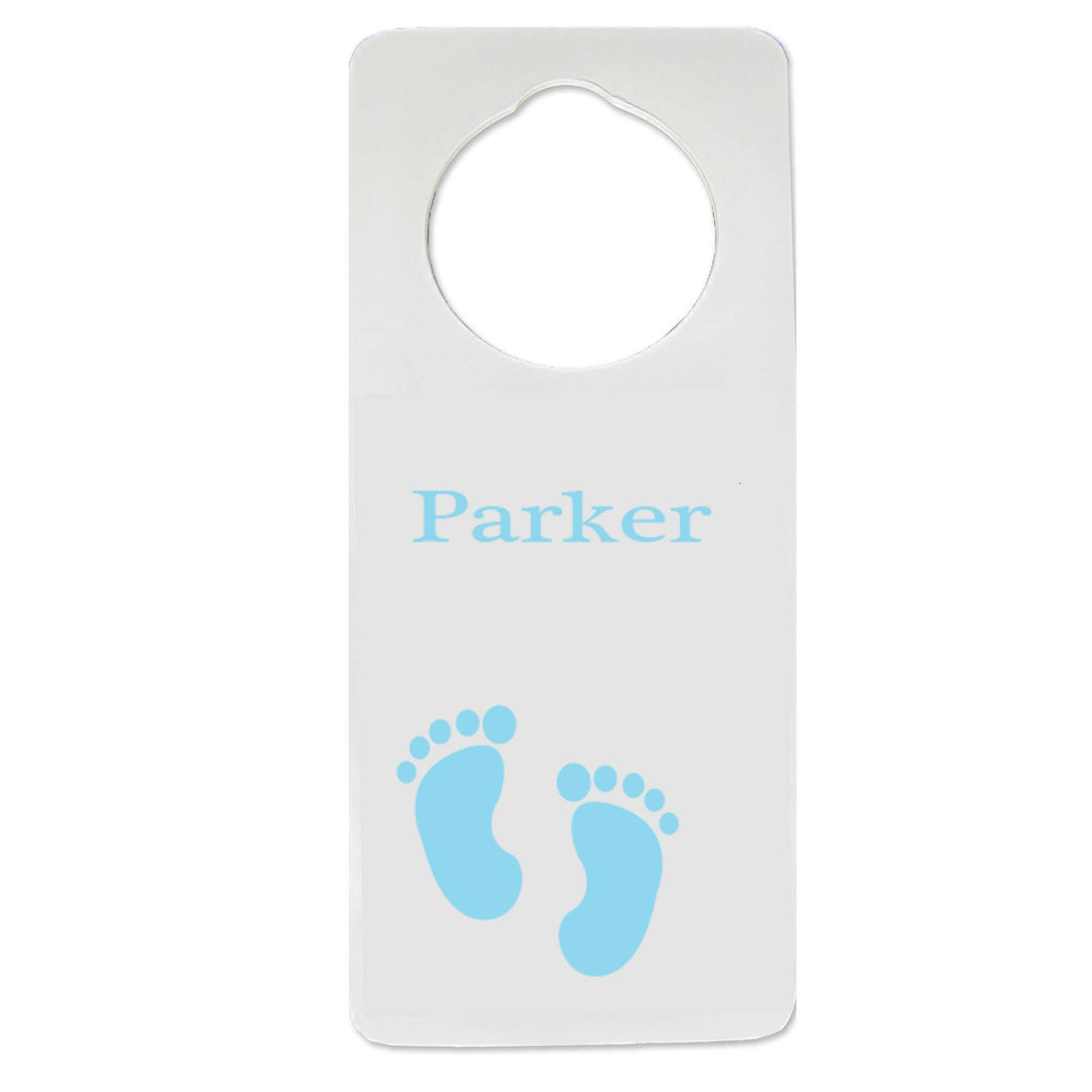 Single Blue Footprint Door Hanger